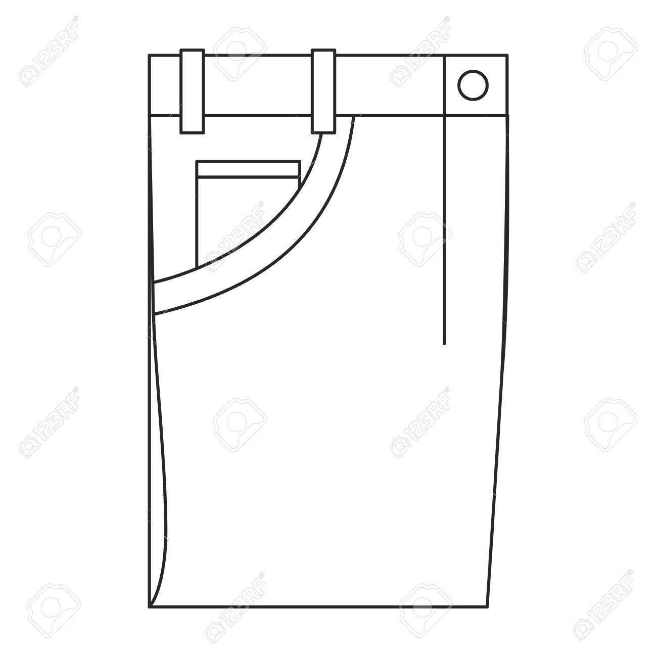Sxeriff   Top Sustainable fashion Brand in India84473944 monochrome silhouette of male pants folded vector illustration