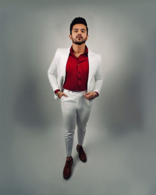 Sxeriff   Top Sustainable fashion Brand in IndiaCOTTON BLAZER 9999 RED COTTON SHIRT 4999 COTTON SKINNY FORMAL PANT 4499 FULL COTTON SUIT SET 19499 scaled