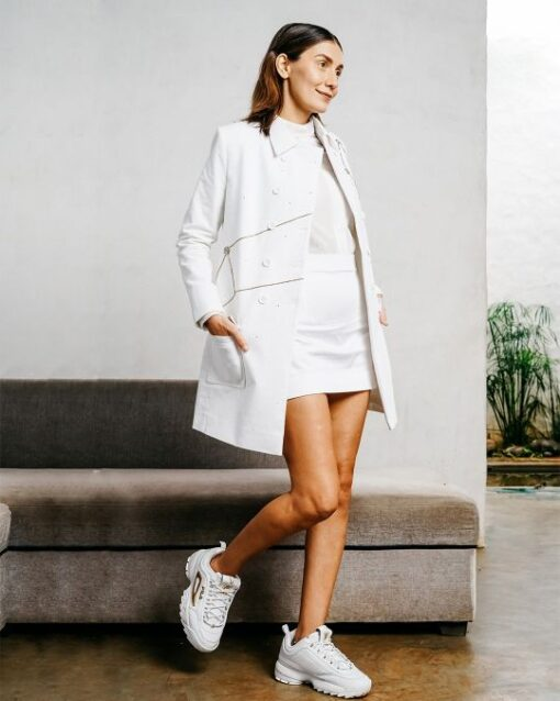 Sxeriff | Top Sustainable fashion Brand in Indiacutdana flat collared corduroy pea coat overlapping mandarin collared velvet shirt 6499 body con cotton skirt 5499 FULL SET 29499