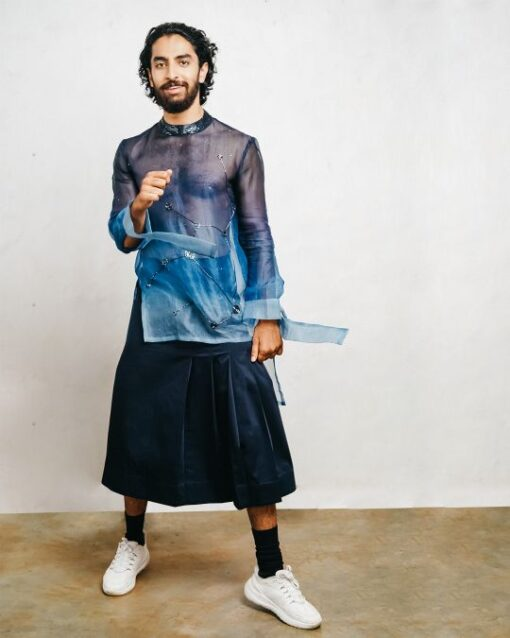 Sxeriff   Top Sustainable fashion Brand in Indiaombre onragnza cutdana t shirt 13499 cotton kilt 7499 FULL SET 20499