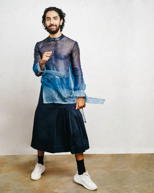 Sxeriff | Top Sustainable fashion Brand in Indiaombre onragnza cutdana t shirt 13499 cotton kilt 7499 FULL SET 20499