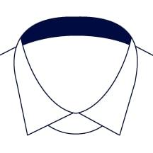 Sxeriff   Top Sustainable fashion Brand in IndiaShirt InnerCollarContrast Navy