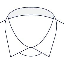 Sxeriff   Top Sustainable fashion Brand in IndiaShirt InnerCollarContrast White